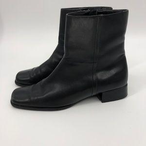 Etienne Aigner Shoes - Etienne Aigner mismatched square toe ankle boots